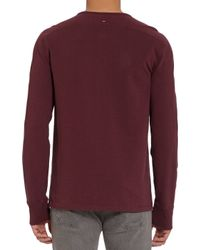 Rag & Bone - Red Military Henley for Men - Lyst