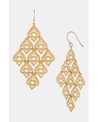 Argento Vivo | Metallic Large Chandelier Earrings | Lyst