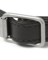 Balenciaga - Black Wrapped Studded Leather Bracelet for Men - Lyst