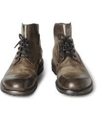 Dolce & Gabbana - Brown Burnished Leather Boots for Men - Lyst