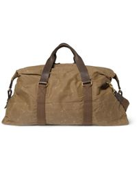 J.Crew - Brown Abingdon Waxed Cotton-Canvas And Leather Holdall Bag for Men - Lyst