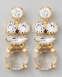 kate spade new york - Metallic Crystal Statement Earrings Clear - Lyst