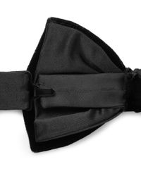Lanvin - Black Bow Tie for Men - Lyst