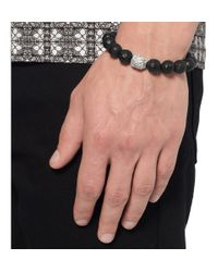 Luis Morais - Brown Diamond White Gold and Ebony Bracelet for Men - Lyst