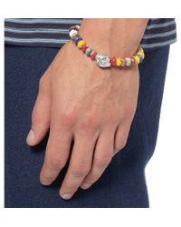 Luis Morais - Yellow White Gold And Bead Bracelet for Men - Lyst
