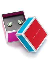 Marc By Marc Jacobs - Green Stud Earrings - Lyst