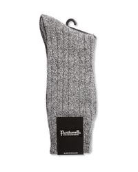 Pantherella   Gray Ribbed Cashmere-blend Socks for Men   Lyst