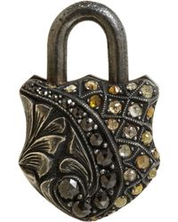 Sevan Biçakci | Multicolor Rough Fancycut Diamond Small Padlock | Lyst