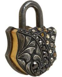 Sevan Biçakci - Multicolor Rough Fancycut Diamond Small Padlock - Lyst