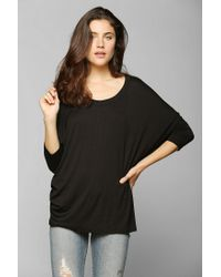 Urban Outfitters | Black Mouchette Oversized Tunic Tee | Lyst