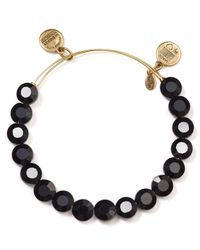 ALEX AND ANI | Black Luxe Jet Bangle | Lyst
