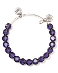 ALEX AND ANI - Luxe Purple Bangle - Lyst