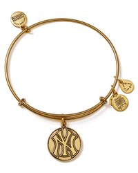 ALEX AND ANI | Metallic New York Yankees Cap Logo Bangle | Lyst