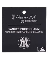 ALEX AND ANI | Metallic New York Yankees Primary Logo Bangle | Lyst
