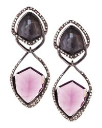 Alexis Bittar | Black Miss Havisham Orbiting Purple Crystal Clipon Earrings | Lyst
