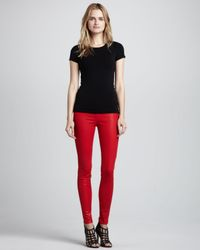 J Brand - Red 815 Adra Midrise Super Skinny Coated Jeans - Lyst