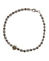 Jude Frances | Shake Pebble Spinel and Gray Diamond Bracelet | Lyst