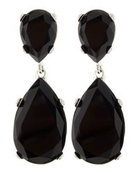 Kenneth Jay Lane | Black Double Teardrop Earrings | Lyst