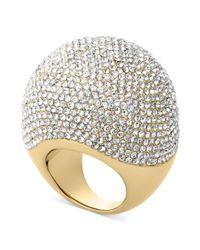 Michael Kors - Metallic Goldtone Pave Bubble Ring - Lyst