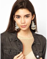 ASOS - Metallic Filigree Earrings - Lyst