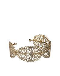 ASOS | Metallic Paisley Filigree Cuff Bracelet | Lyst