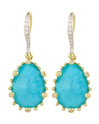 Frederic Sage | Blue Tivoli Turquoise & Diamond Earrings | Lyst