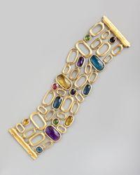 Marco Bicego | Metallic Murano 18k Wide Semiprecious Bracelet | Lyst