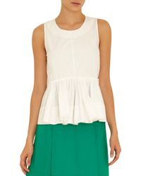 Marni - Natural Sleeveless Gathered Front Top - Lyst