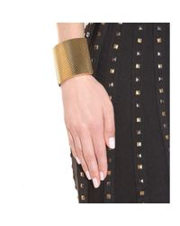 Bottega Veneta - Metallic Leather Cuff Bracelet - Lyst
