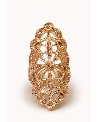 Forever 21 | Metallic Opulent Cutout Knuckle Ring | Lyst