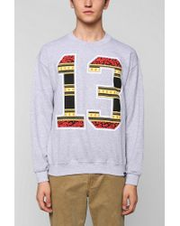 Urban Outfitters | Gray Rook Lucky 13 Pullover Sweatshirt for Men | Lyst
