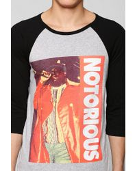 Urban Outfitters - Red Notorious Biggie Raglan Tee for Men - Lyst