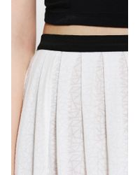 Urban Outfitters - White Geo Print High Slit Maxi Skirt - Lyst