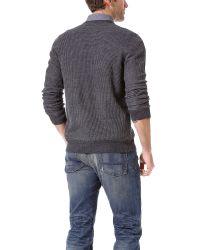 VINCE | Gray Thermal V Neck Cardigan for Men | Lyst