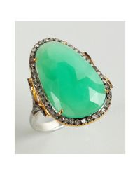 Amrapali - Green Crysoberyl and Diamond Cocktail Ring - Lyst
