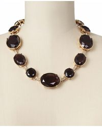 Ann Taylor - Purple Uptown Necklace - Lyst