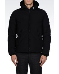 Armani - Black Bomber Jacket for Men - Lyst