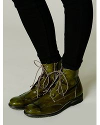 Bed Stu - Green Hi Shine Lace Boot - Lyst