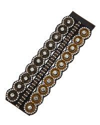 Deepa Gurnani - Multicolor Chainrhinestone Bracelet - Lyst