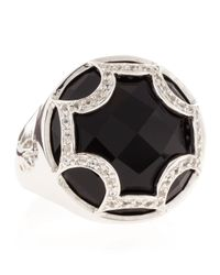 Elizabeth Showers | Black Onyx Maltese Canopy Ring | Lyst