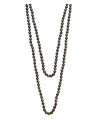 Henri Bendel | Gray Jetsetter Padlock Necklace | Lyst