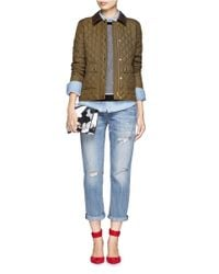 Lyst J Crew Quilted Tack Jacket In Green