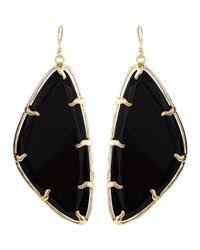 Kendra Scott | Metallic Willow Black Glass Earrings | Lyst