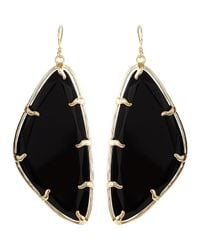 Kendra Scott - Metallic Willow Black Glass Earrings - Lyst