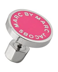 Marc By Marc Jacobs - Pink Enameled Silvertone Earrings - Lyst