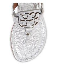 Tory Burch | Miller Sandal, Metallic Leather | Lyst
