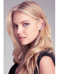 Bebe - Blue Multi Stone Ear Cuff - Lyst
