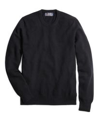 Brooks Brothers - Black Cashmere Crewneck Sweater-basic Colors for Men - Lyst