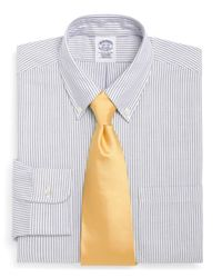 Brooks Brothers   Blue Madison Fit Stripe Dress Shirt for Men   Lyst