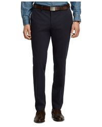 Brooks Brothers - Blue Milano Fit Cotton Twill Pants for Men - Lyst